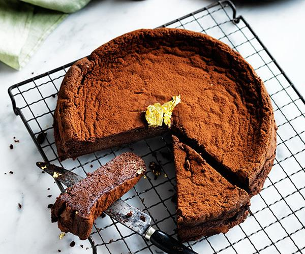 "[**Chocolate Manjari cake**](https://www.gourmettraveller.com.au/recipes/chefs-recipes/chocolate-manjari-cake-8226|target=""_blank"")"