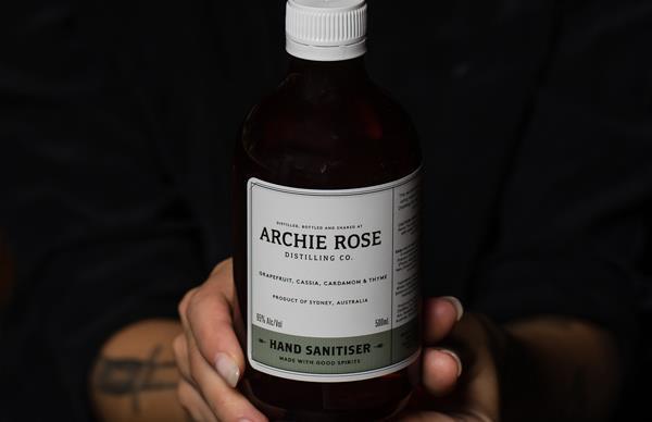 Archie Rose's hand sanitiser.