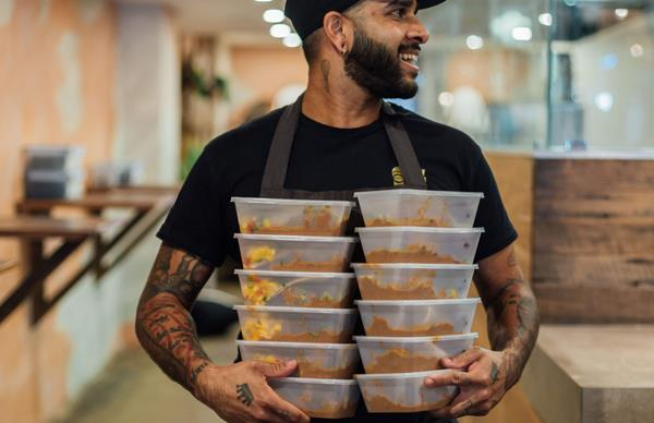 Meals by Colombo Social ready to be distributed to the community.