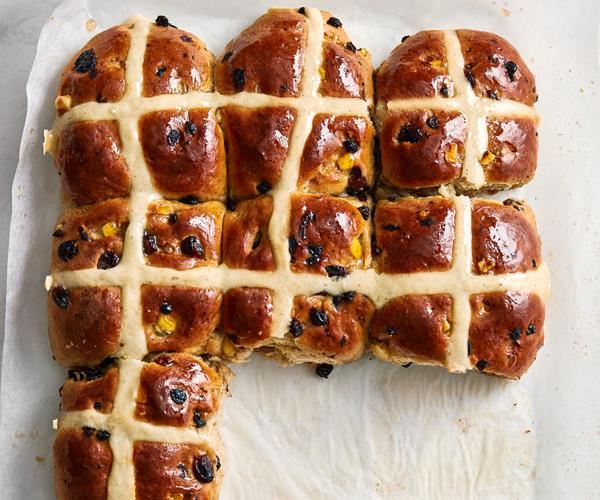 "**[The ultimate hot cross buns](https://www.gourmettraveller.com.au/recipes/browse-all/hot-cross-buns-recipe-18485 target=""_blank"")**"