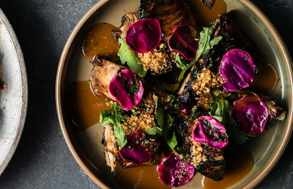 Monique Fiso's roasted cabbage with XO sauce