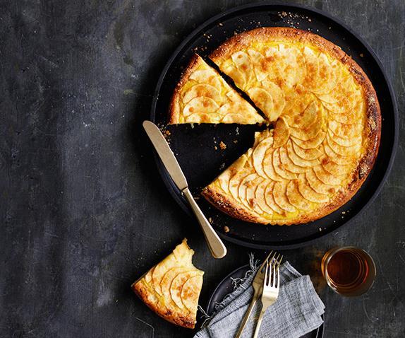 "**[Brioche apple custard tart](https://www.gourmettraveller.com.au/recipes/browse-all/brioche-apple-custard-tart-12568|target=""_blank"")**"