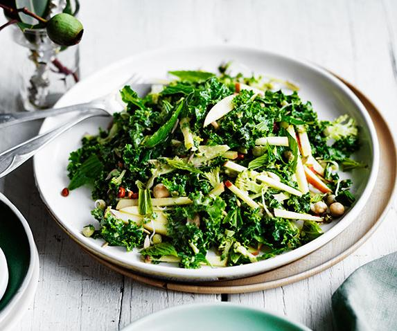 """**[Winter salad of broccoli, apple and kale with sesame dressing](https://www.gourmettraveller.com.au/recipes/fast-recipes/winter-salad-of-broccoli-apple-and-kale-with-sesame-dressing-13613