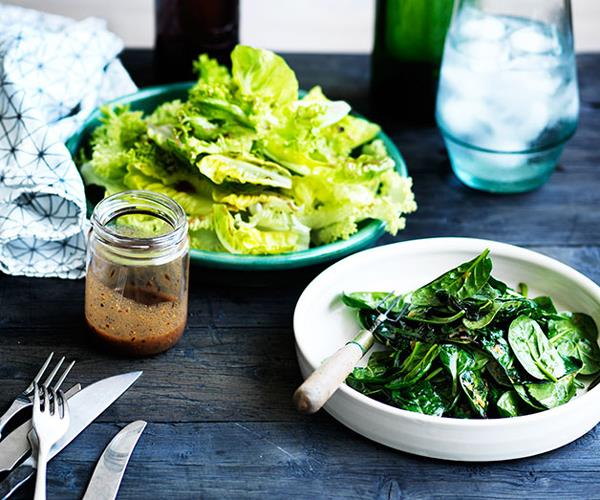 """**[René Redzepi and Nadine Levy Redzepi's perfect steamed spinach with miso and herbs](https://www.gourmettraveller.com.au/recipes/chefs-recipes/steamed-spinach-8382