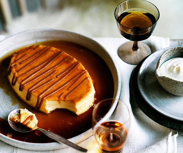 "**[Porteño's milk flan with dulce de leche and whipped cream](https://www.gourmettraveller.com.au/recipes/chefs-recipes/milk-flan-with-dulce-de-leche-and-whipped-cream-9224|target=""_blank""