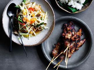 David Thompson's grilled pork skewers