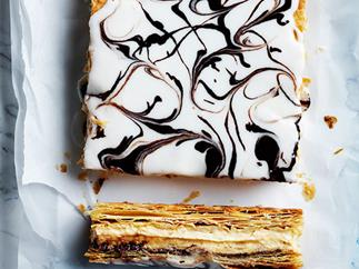 Hazelnut custard slice
