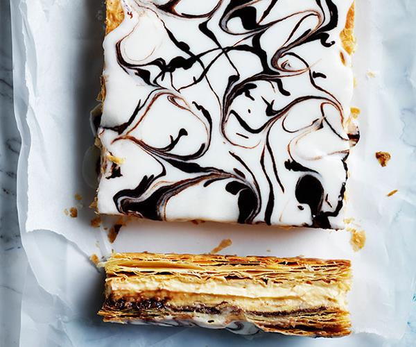 "**[Hazelnut custard slice](https://www.gourmettraveller.com.au/recipes/browse-all/hazelnut-custard-slice-12251|target=""_blank""