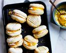 Lime and vanilla melting moments with passionfruit curd