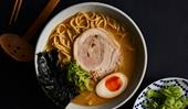 Chaco Ramen's fat soy ramen and kaeshi
