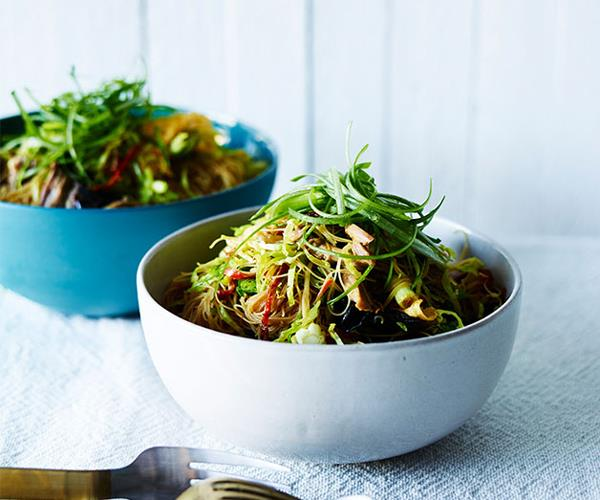 "**[Roast duck, Brussels sprouts and noodles](https://www.gourmettraveller.com.au/recipes/fast-recipes/roast-duck-brussels-sprouts-and-noodles-13822|target=""_blank""