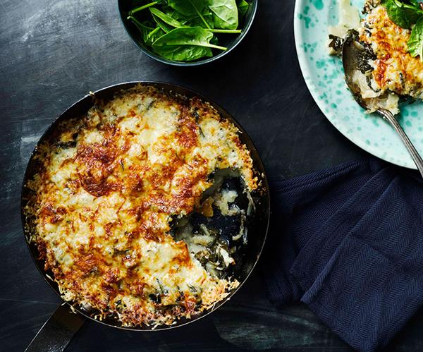 Potato and silverbeet frico