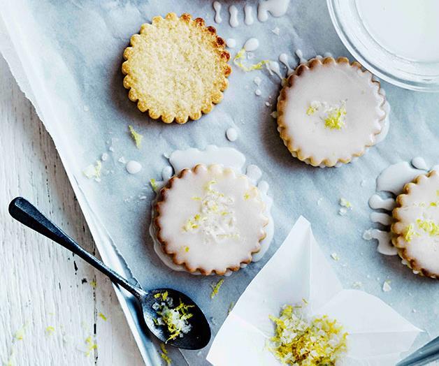 Lemon-glazed biscuits