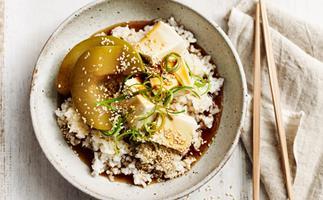 Braised tofu and winter melon