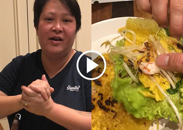 Watch: Jerry Mai's guide to making banh xeo