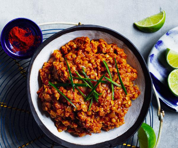 Saba Alemayoh's birsen (red split lentil stew)