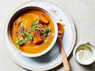 Pumpkin and ras el hanout soup