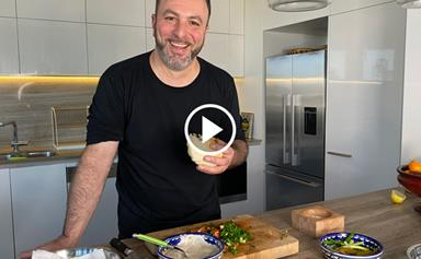 Watch: Michael Rantissi makes falafel