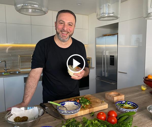 Watch: Michael Rantissi makes falafel