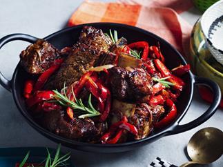 Saba Alemayoh's derek tibs (Ethiopian beef short ribs with capsicum)