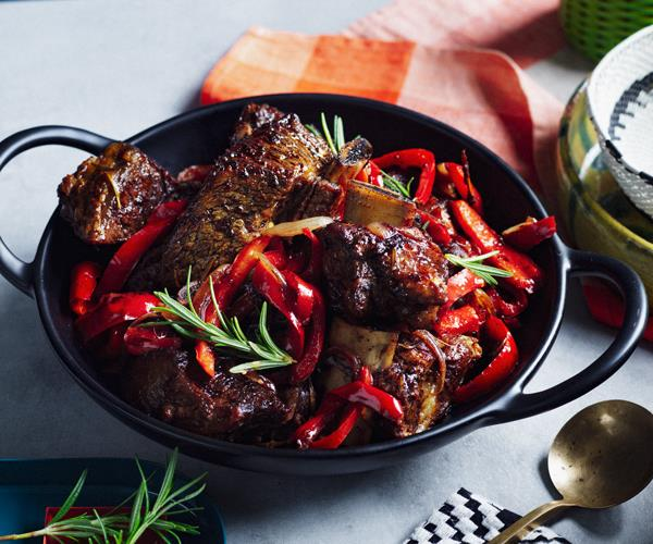 "**[Saba Alemayoh's derek tibs (Ethiopian beef short ribs with capsicum)](https://www.gourmettraveller.com.au/recipes/chefs-recipes/derek-tibs-18651|target=""_blank"")**"