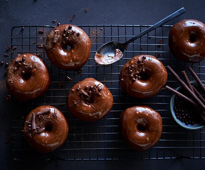 Milk-chocolate doughnuts