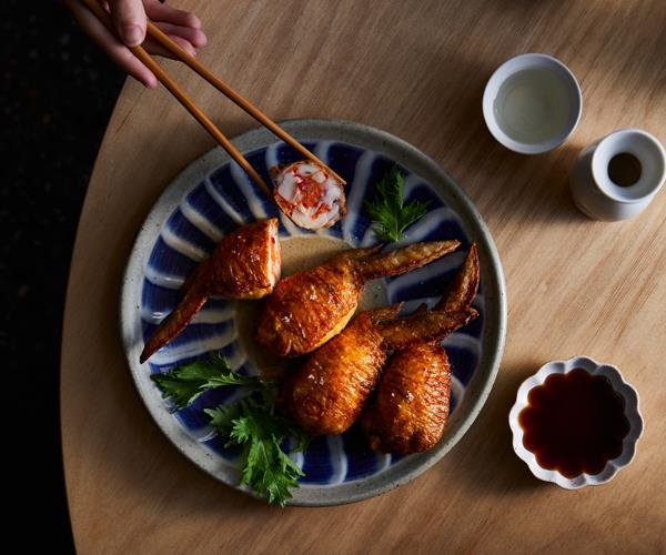 "**[Chaco Bar's chicken wing ""gyoza""](https://www.gourmettraveller.com.au/recipes/chefs-recipes/stuffed-chicken-wings-18662