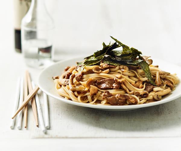 "**[Yaki udon with mushrooms](https://www.gourmettraveller.com.au/recipes/fast-recipes/yaki-udon-18669|target=""_blank""|rel=""nofollow"")**"