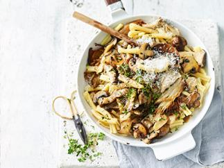 Casarecce with mixed mushrooms and thyme