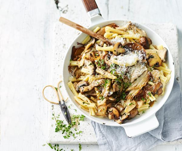 "**[Casarecce with mixed mushrooms and thyme](https://www.gourmettraveller.com.au/recipes/fast-recipes/casarecce-mushrooms-18672|target=""_blank"")**"