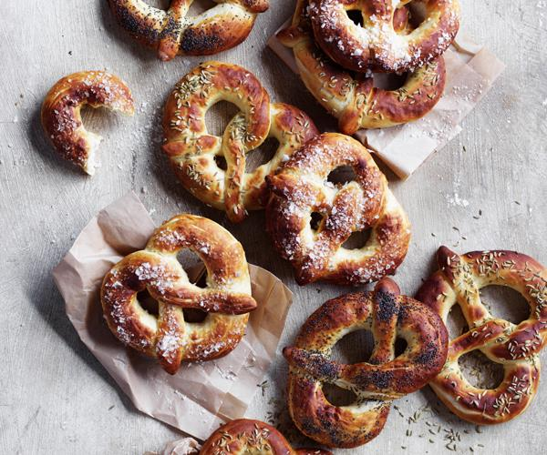 "**[Salted pretzels](https://www.gourmettraveller.com.au/recipes/browse-all/salted-pretzels-18694 target=""_blank"")**"