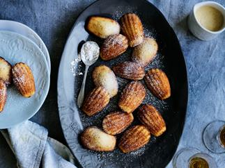 Ginger madeleines with spiced crème Anglaise