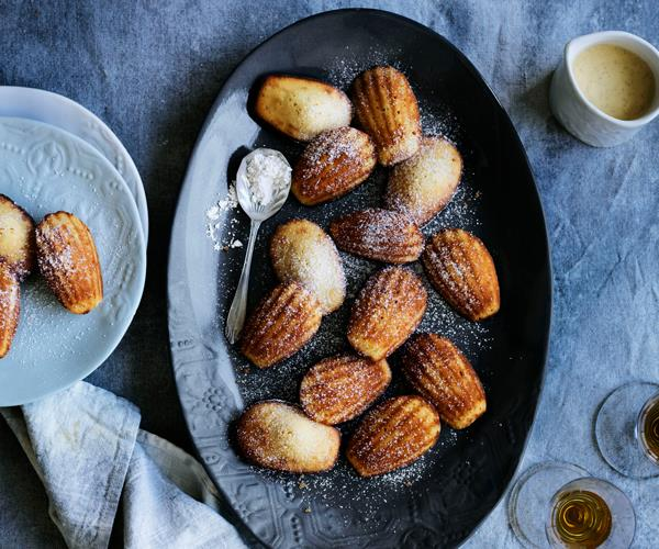 "**[Ginger madeleines with spiced crème Anglaise](https://www.gourmettraveller.com.au/recipes/browse-all/ginger-madeleines-with-spiced-creme-anglaise-13999|target=""_blank"")**"