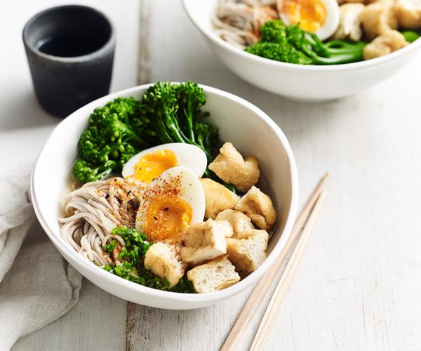"**[Soba noodle soup with egg, tofu and broccolini](https://www.gourmettraveller.com.au/recipes/fast-recipes/soba-noodle-soup-18701|target=""_blank"")**"