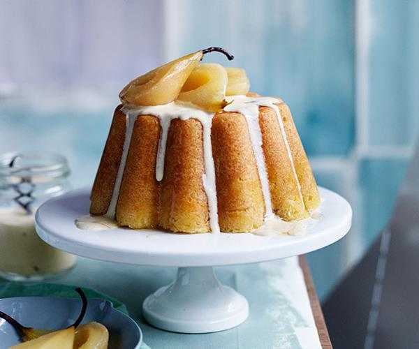 """**[Steamed vanilla pudding with pears and vanilla crème anglaise](https://www.gourmettraveller.com.au/recipes/browse-all/steamed-vanilla-pudding-with-pears-and-vanilla-creme-anglaise-12009 target=""""_blank"""" rel=""""nofollow"""")**"""