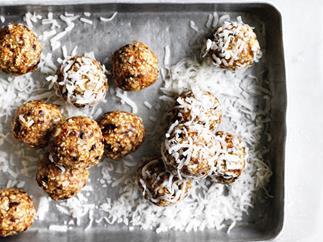 Gluten-free salted maple-almond balls