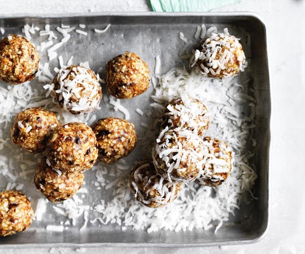 """**[Salted maple-almond balls](https://www.gourmettraveller.com.au/recipes/browse-all/salted-maple-almond-balls-12702 target=""""_blank"""")**"""