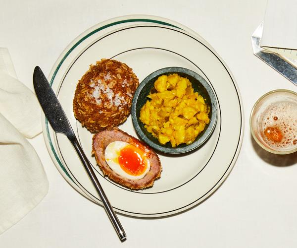 Nik Hill's Scotch egg & piccalilli, as served at The Old Fitzroy Hotel.