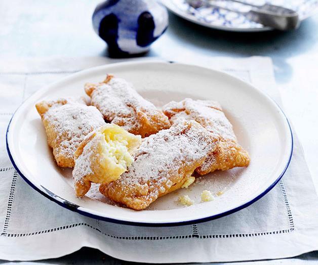 "**[Bourekia (Greek ricotta and cinnamon pastry pillows)](https://www.gourmettraveller.com.au/recipes/browse-all/ricotta-and-cinnamon-pastry-pillows-10831|target=""_blank"")**"