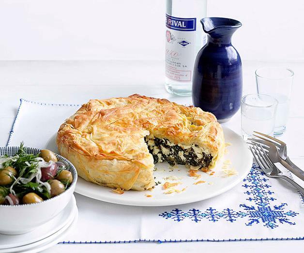 "**[Spanakopita](https://www.gourmettraveller.com.au/recipes/browse-all/spanakopita-14141|target=""_blank"")**"
