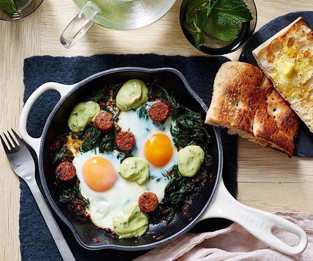 Naïm's green shakshuka recipe