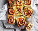 Caramelised onion and Gruyère scrolls