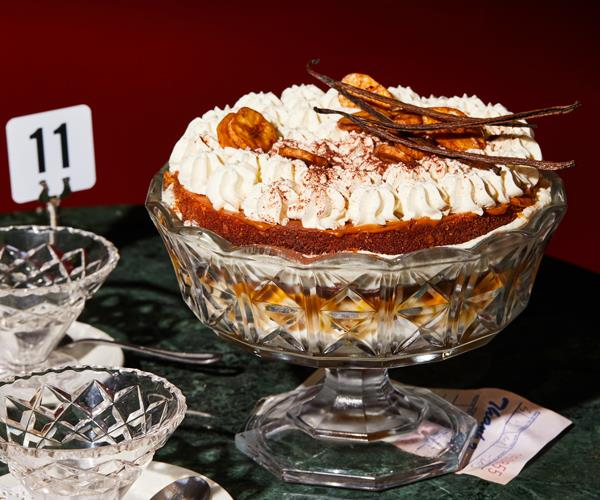 "**[Nik Hill's banoffee trifle](https://www.gourmettraveller.com.au/recipes/chefs-recipes/banoffee-trifle-18766|target=""_blank"")**"