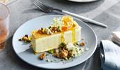 Jacqui Challinor's olive-oil ice-cream sandwich with halva and pistachio