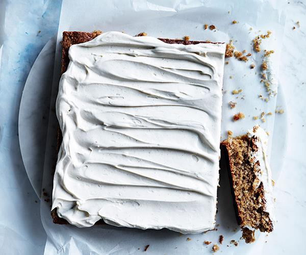 "**[Spiced banana and walnut slice with mascarpone frosting](https://www.gourmettraveller.com.au/recipes/browse-all/spiced-banana-and-walnut-slice-with-mascarpone-frosting-12238|target=""_blank""