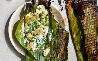 Ahana Dutt's maache'r paturi (fish wrapped in banana leaves)