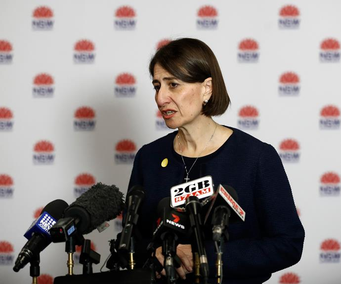 NSW Premier Gladys Berejiklian speaks during a press conference on October 7, 2020 in Sydney.