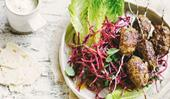 Lamb kofta with beetroot salad