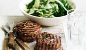 Beef braciole with cavolo nero and parmesan salad