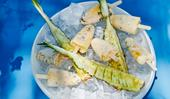Raes on Wategos' mango-macadamia popsicles with Piña Colada pineapple